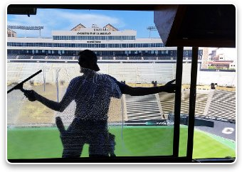 Squeegee Work at CU Folsom Field